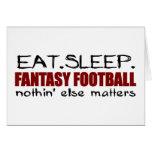 Eat Sleep Fantasy Football Greeting Card
