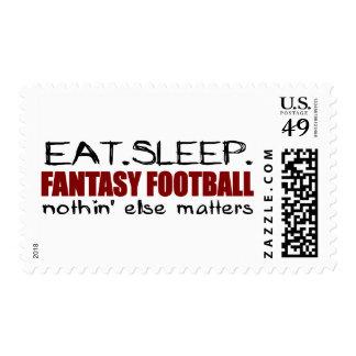 Eat Sleep Fantasy Football Postage Stamp