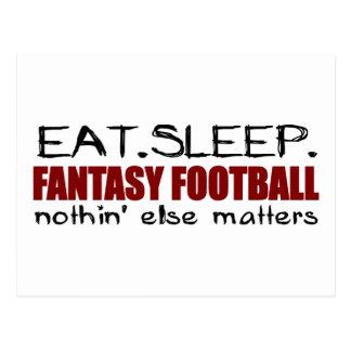 Eat Sleep Fantasy Football Postcard