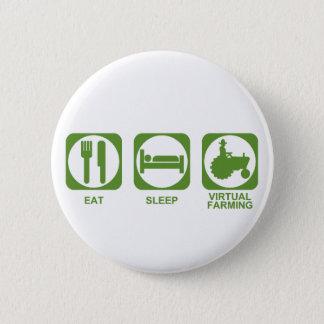 Eat Sleep Farm Button