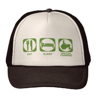Eat Sleep Farm Mesh Hats