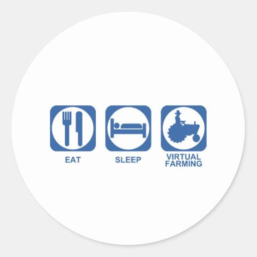 Eat Sleep Farm Stickers