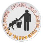 EAT SLEEP FEED GOATS - MY LIFE! DINNER PLATES