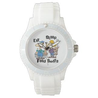 Eat Sleep Feed Goats Wrist Watch