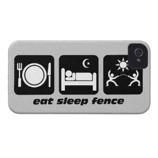 eat sleep fence iPhone 4 covers