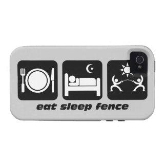 eat sleep fence vibe iPhone 4 case