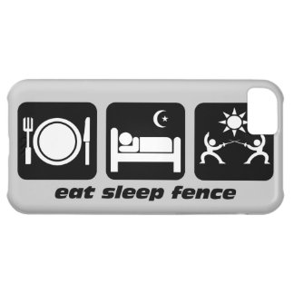 eat sleep fence cover for iPhone 5C