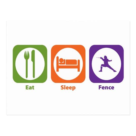 Eat Sleep Fence Postcard