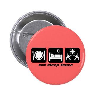 eat sleep fencing 2 inch round button