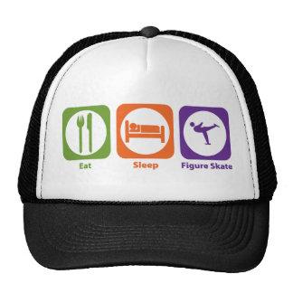 Eat Sleep Figure Skate Mesh Hat