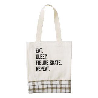 Eat Sleep Figure Skate Repeat Zazzle HEART Tote Bag