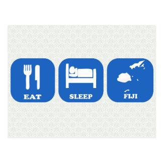 Eat Sleep Fiji Postcard