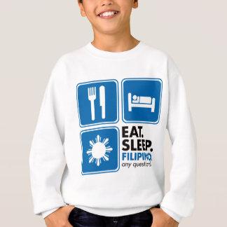 Eat Sleep Filipino - Blue Sweatshirt