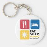 Eat Sleep Filipino Key Chain