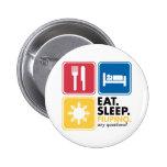 Eat Sleep Filipino Pinback Buttons