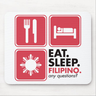 Eat Sleep Filipino - Red Mouse Pad