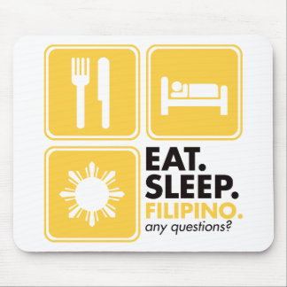 Eat Sleep Filipino - Yellow Mouse Pad