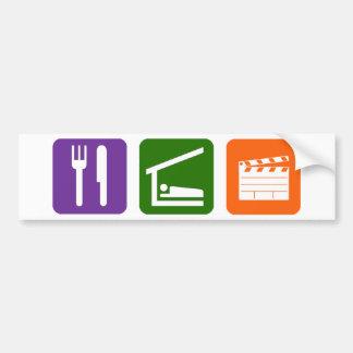 Eat Sleep Film Production Car Bumper Sticker