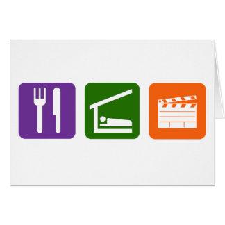 Eat Sleep Film Production Cards
