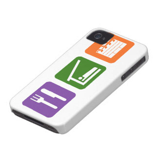 Eat Sleep Film Production iPhone 4 Case-Mate Cases