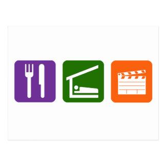 Eat Sleep Film Production Postcard