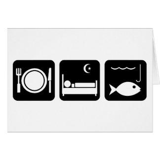 Eat Sleep Fish 1 Greeting Card