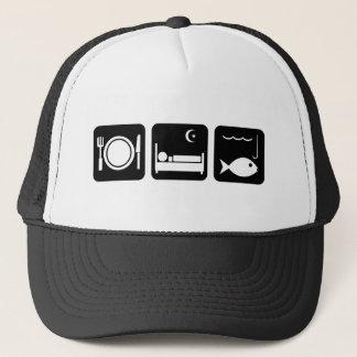 Eat Sleep Fish 1 Trucker Hat