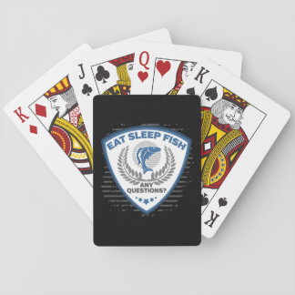 Eat Sleep Fish Any Questions Fishing Playing Cards