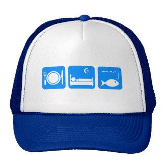 Eat Sleep Fish blue Trucker Hat