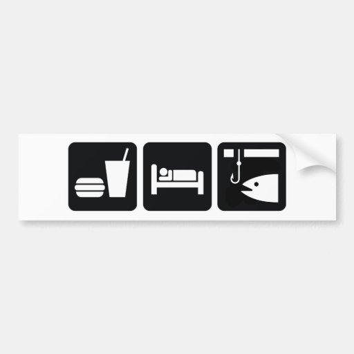 Eat Sleep Fish Bumper Stickers