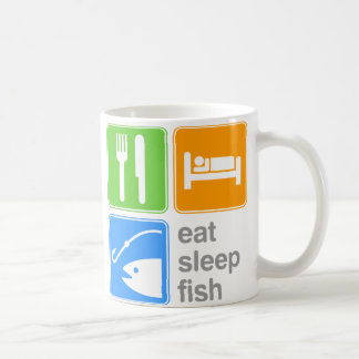 Eat Sleep Fish Coffee Mug
