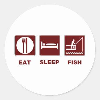 Eat Sleep Fish fishing gifts Classic Round Sticker