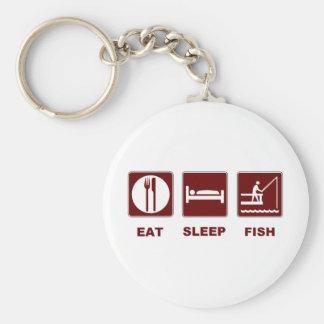 Eat Sleep Fish fishing gifts Keychain