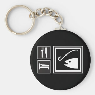 Eat Sleep FISH! Keychain