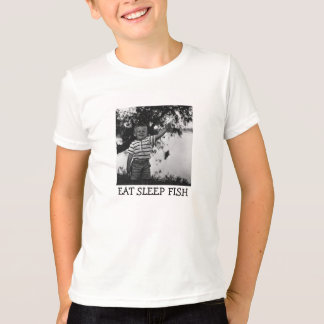 EAT SLEEP FISH Kid's Fishing T-Shirt