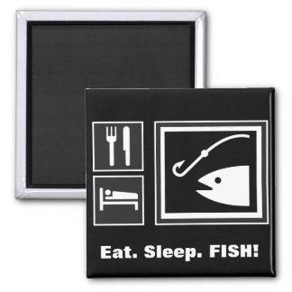 Eat Sleep FISH! Refrigerator Magnets