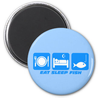 eat sleep fish magnet