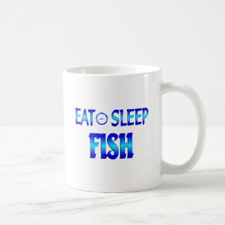 Eat Sleep Fish Coffee Mugs