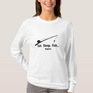 Eat Sleep Fish - Repeat T-Shirt