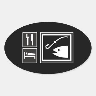 Eat Sleep FISH! Stickers