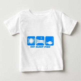 eat sleep fish tees