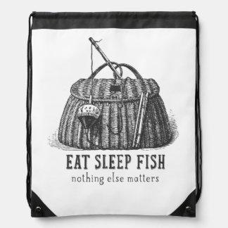 Eat Sleep Fish Vintage Tackle box Cinch Bags