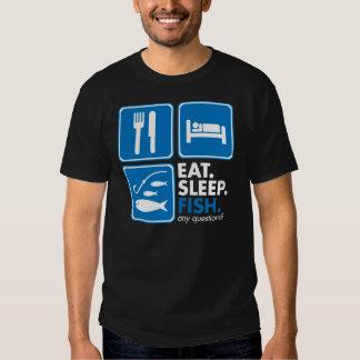 Eat Sleep Fish - White T Shirt
