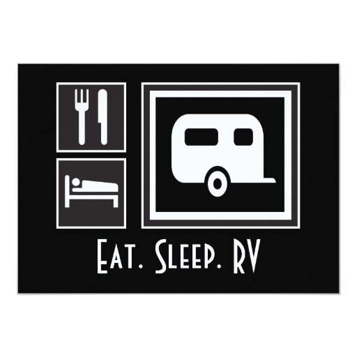Eat Sleep FISH! You're invited on a Camping Trip Card