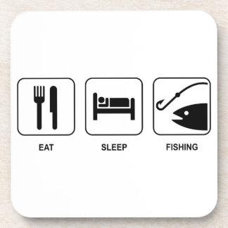 Eat Sleep Fishing Drink Coasters
