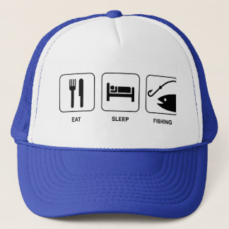 Eat Sleep Fishing Hat