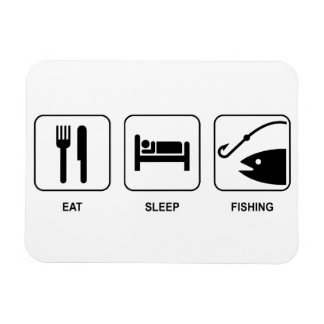 Eat Sleep Fishing Magnet