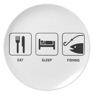 Eat Sleep Fishing Plate
