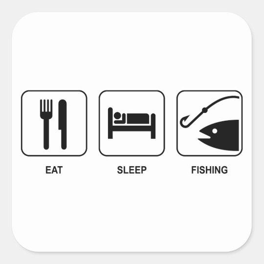 Eat Sleep Fishing Sticker