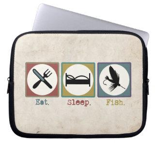 Eat Sleep Fishing Trout Computer Sleeve